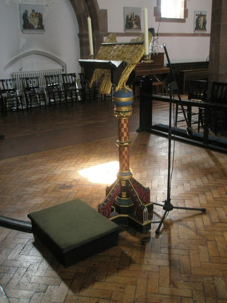 File:The lectern at St Alban's, Copnor - geograph.org.uk - 1493823.jpg