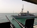 The mine countermeasures ship USS Devastator (MCM 6) departs Mina Salman Pier in Manama, Bahrain, May 13, 2013, to participate in Mine Countermeasures Exercise (IMCMEX) 2013 130513-N-UT397-009.jpg