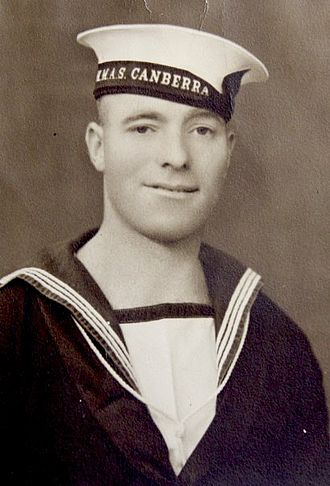 Frank Jenner - Frank Jenner while he was a sailor on HMAS Canberra