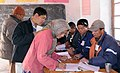 The voters registering their names before casting the vote at a polling booth Chachot Gong Ma in Ladakh during the 5th and final phase of General Election-2009, in J&K on May 13, 2009.jpg
