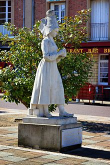 This girl Marie Harel invented Camembert cheese following advice of priest come to this region from Brie.jpg