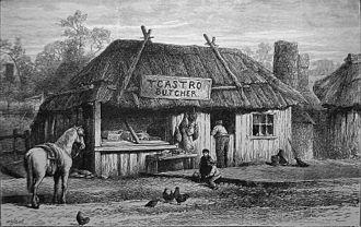 Tichborne case - Thomas Castro's butcher's shop in Wagga Wagga, Australia