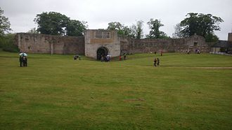 Tickhill Castle - The gatehouse range, seen from the bailey