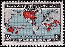 Timbre penny post Canada 1898