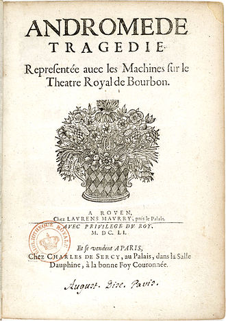 Andromède - Title page (1651, 2nd edition)