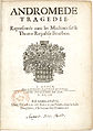 Title page to Andromède by P Corneille - Rouen 1651 - Gallica 2011j.jpg
