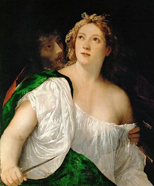 Lucretia and her Husband - Image: Tiziano, tarquinio e lucrezia