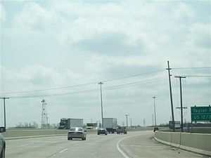 Indiana Toll Road - Recently-finished three-lane section at US 12/US 20 in Gary in 2008