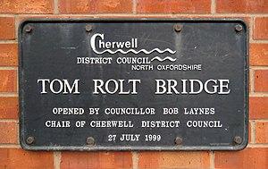 L. T. C. Rolt - Plaque at Bridge 164 on the Oxford Canal, Banbury
