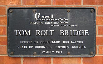 L. T. C. Rolt - Plaque at Bridge 164 on the Oxford Canal, Banbury