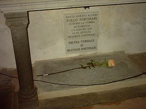 Beatrice Portinari - Tomb of Beatrice in Santa Margherita de' Cerchi.