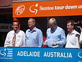 Tony Piccolo MP, Premier Mike Rann, PM Kevin Rudd, Nick Champion member for Wakefield 20jan2010 tour down under gawler bt (6399059677).jpg