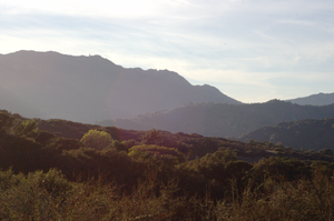Topanga, California - View of Topanga Canyon from one of the hiking trails