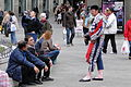 Torero Chats in a Plaza - Madrid - Spain.jpg