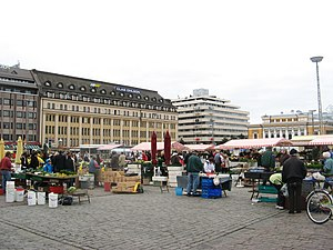 2017 Turku stabbing - Market Square, where the attack started, pictured in 2008