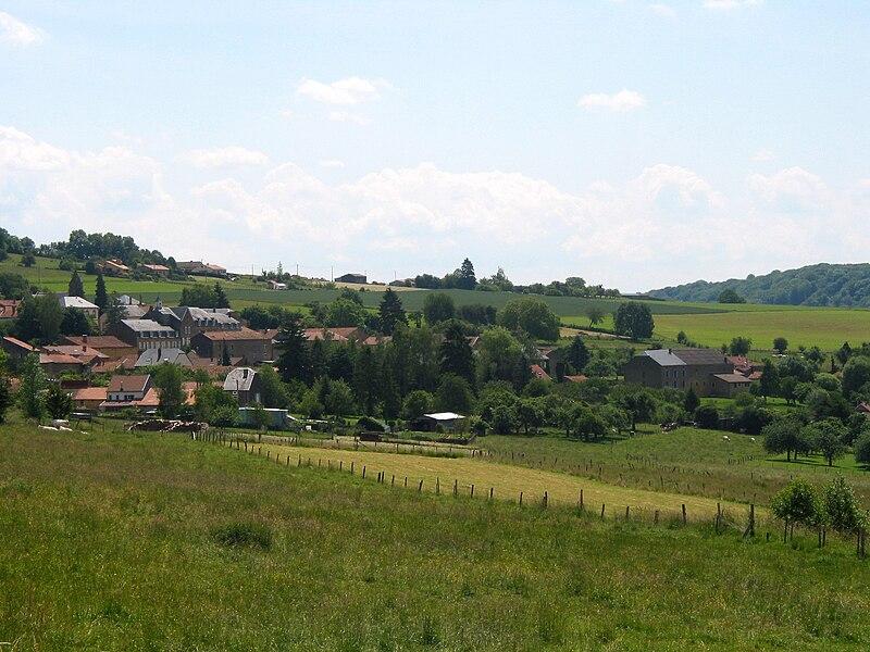 Torgny, le village vu depuis le nord-ouest.