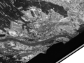 Toruń (Poland) seen by the American reconnaissance satellite Corona 98 (KH-4A 1023) (1965-08-23).png