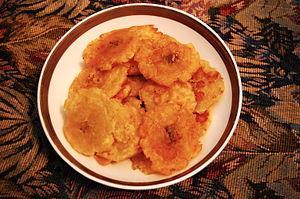 Haitian cuisine - Double Fried Plantain