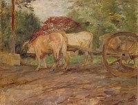 Toulouse-Lautrec - LES BOEUFS SOUS LE JOUG (SOUVENIR DE MALROME), 1881.jpg