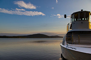 County Leitrim - A tour boat on Lough Gill. One of the many lakes in County Leitrim.