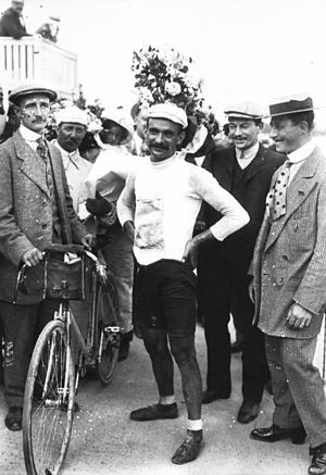 1911 Tour de France - Gustave Garrigou after winning the race.