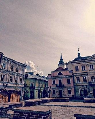 Piotrków Trybunalski - Town Square in Piotrków Trybunalski