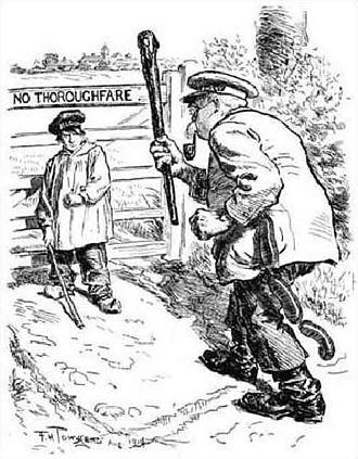 "Belgium in World War I - A British cartoon from ''Punch'' in 1914 depicting ""little"" Belgium barring ""big"" Germany's path"