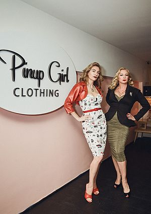 Traci Lords - Designer Laura Byrnes and Lords at the Pinup Girl Clothing launch party, 2016