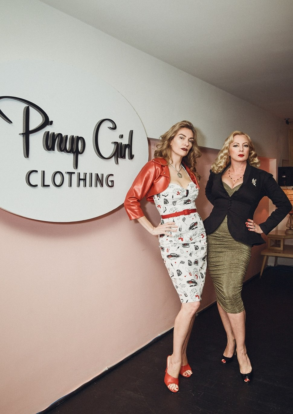 Traci Lords and Laura Byrnes Pinup Girl Clothing 01