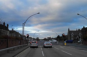 Peaks Parkway - Welholme Street crossroads This is almost exactly the same spot as the photograph of the express train.