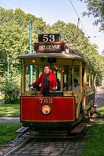 Heaton Park Tramway museum tramway in Heaton Park, Manchester, UK