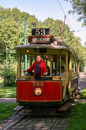 Manchester Corporation Tramways - Image: Tram 765, Heaton Park