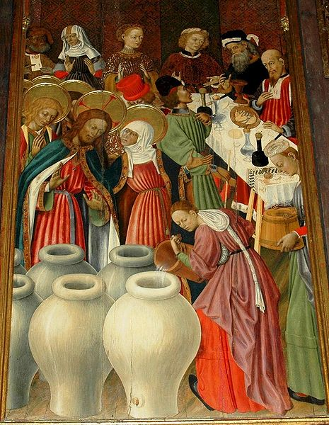 Marriage at Cana, by Bernat Martorell (15th C.)