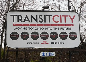 """Transit City"" billboard promoting p..."