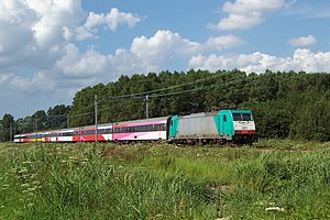 TRAXX - NMBS/SNCB Class 28 multi-system TRAXX with InterCity Amsterdam - Brussels