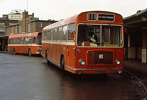 Derby bus station - Trent Motor Traction buses in the old bus station, 1980