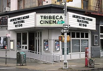 Tribeca Film Festival - The marquee of Tribeca Cinemas