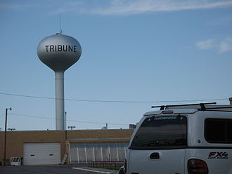 Tribune, Kansas - City water tower (2009)