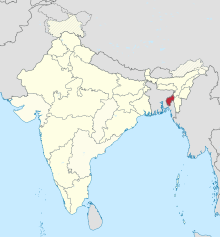 Tripura in India (disputed hatched).svg