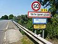 Trith-Saint-Léger (Nord, Fr) city limit sign.JPG