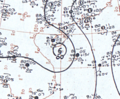 Tropical Storm Phyllis August 1, 1966 surface analysis.png