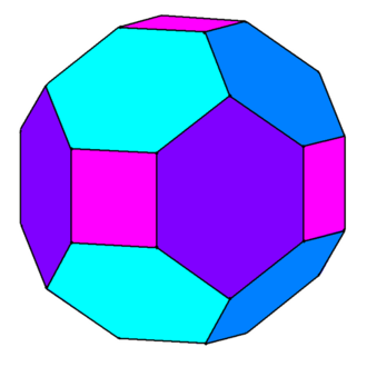 Chamfer (geometry) - Image: Truncated rhombic dodecahedron