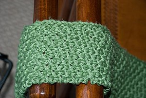 Tunisian crochet - Tunisian crochet smock stitch.