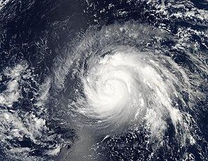 Typhoon Higos (2002) - Tropical Storm Higos near Northern Mariana Islands on September 28