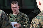 U.S. Marine Corps Cpl. Joseph G. Brandstatter, a traffic management specialist with Combat Logistics Company 21, Combat Logistics Regiment 25, 2nd Marine Logistics Group, teaches reservists with 4th Landing 121202-M-DS159-019.jpg