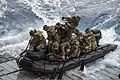 U.S. Marines assigned to Foxtrot Company, Battalion Landing Team, 2nd Battalion, 5th Marine Regiment, 31st Marine Expeditionary Unit conduct launch and recovery operations with a combat rubber raiding craft from 140301-N-ZU025-136.jpg