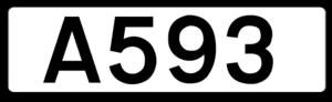 A593 road - Image: UK road A593