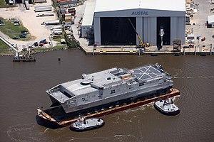 USNS Brunswick (JHSV-6) at Austal USA in May 2015