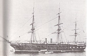 USS Pensacola (1859) - USS Pensacola at Alexandria, Virginia, in 1886.