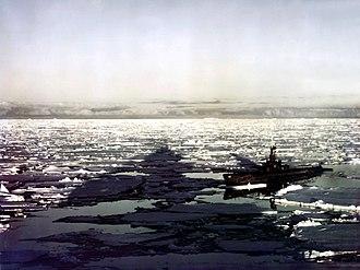 Operation Highjump - USS Sennet (SS-408) participating in Operation Highjump